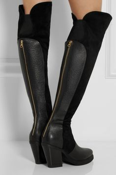 PurifiedPatsy 7 leather and suede knee boots