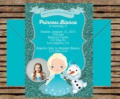 Frozen Birthday Invitation Frozen party by gabrielleandlauren Frozen Backdrop, Elsa Castle, Frozen Birthday Invitations, Frozen Princess, Frozen Party, Backdrops, Frame, Handmade Gifts, Etsy