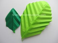 Easy Origami Leaf from www.origami-instructions.com