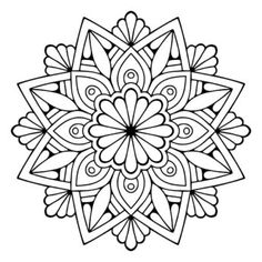 – Pages to Colour - Malvorlagen Mandala Mandala Design, Mandala Floral, Mandala Pattern, Circular Pattern, Mandala Drawing, Mandala Painting, Dot Painting, Mandala Tattoo, Mandala Coloring Pages