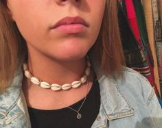 bohemian cowrie shell choker by RAWindividuals on Etsy