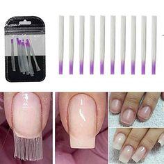 10 pcs/pack Nail Form Fibernails Acrylic Tips Fiberglass Extension Fiber Glass for Nails Silk Building Extension Manicure Tool-Storefyi Nail Extensions Acrylic, Gel Extensions, Fiberglass Nails, Nail Printer, Hard Nails, Acrylic Nail Tips, Nail Forms, Coffin Shape Nails, Uv Nails