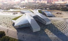 New Ultra-modern Library and Exhibition Center for Houston, Texas