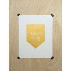 I Got This Modern Geometric Screen Print in Gold by ScoutandLilly, $20.00