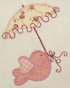 This would be so cute for a baby girl quilt Baby Applique, Machine Embroidery Applique, Wool Applique, Applique Quilts, Embroidery Stitches, Hand Embroidery, Applique Templates, Applique Patterns, Applique Designs