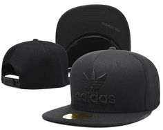 1772f9ddb7931b Mens Adidas Originals Thrasher Clover Logo Embroidery Front Best Quality  Retro Baseball Snapback Cap - All Black Supernatural Style