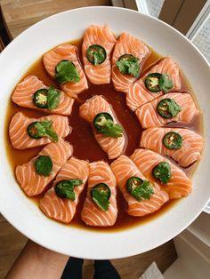 Sushi Recipes, Seafood Recipes, Asian Recipes, Cooking Recipes, Healthy Recipes, Healthy Sushi, Dinner Recipes, Sashimi Sushi, Tempura Sushi