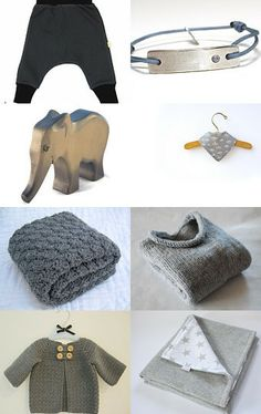 Cool Grey Babystuff by herzimsturm on Etsy--Pinned with TreasuryPin.com