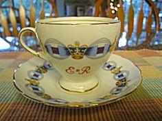 Vintage Queen Elizabeth 11 coronation teacup, c:1953, Foley Bone China. For sale at More Than McCoy at www.morethanmccoy.com
