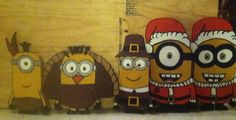 Holiday wood cut out plywood yard decor yard art MINIONS THANKSGIVING MINIONS CHRISTMAS MINIONS