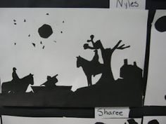 Silhouettes from old photos- can do fairy tales