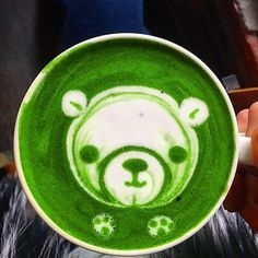 """""""Good morning cute matcha latte. No sugar in this one because it's sweet enough www.zengreentea.com #matcha #superfood"""