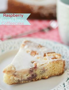 Raspberry Cream Cheese Coffeecake -- cream cheese and raspberry swirl, buttery cake base, crumb topping and glaze...what else do you need first thing in the morning?