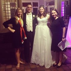Christina and @Katie O'Keefe with a #CLEvents bride and groom. Photo by cl_events #Instagram