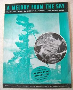 1936 Sheet Music  A MELODY FROM THE SKY Trail Of The Lonesome Pine Featuring Fred MacMurray Sylvia Sidney  by ShopWithLynne for $3.50