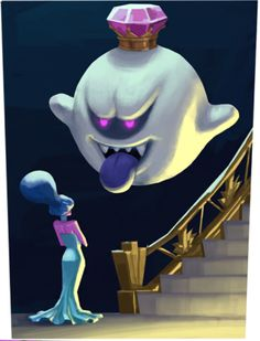King Boo and Hellen Gravely by King-of-the-Boos on DeviantArt Mario Y Luigi, Super Mario And Luigi, Super Mario Brothers, Super Mario Bros Nintendo, Luigi's Mansion 3, King Boo, Video Game Art, Super Smash Bros, Smurfs