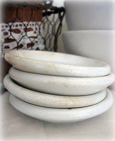 ironstone butterpats