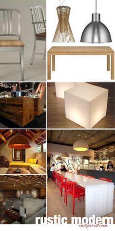 rustic modern decorating - Google Search