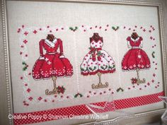 Shannon Christine Designs - Mrs Clause's Merry Outfits (cross stitch chart)