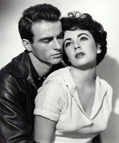 Montgomery Cliff and Liz Taylor