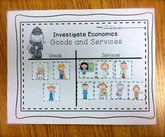 FREE:  Economics; Goods and Services Picture Sort  schoolisahappyplace.blogspot.com