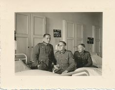 WW2 wounded German soldiers in hospital