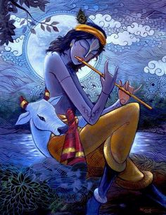 flute and cowherd!! #Krishna #Krsna #hindu #art