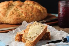 Quick and easy whole wheat soda bread - this bread mixes up in minutes and tastes fantastic! An easy side dish that you can make in no time!