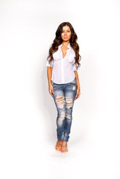 Working Girl White Dressy Women's Top. Click here for more women's dressy & sexy tops at http://www.vargastore.com/collections/dressy-tops