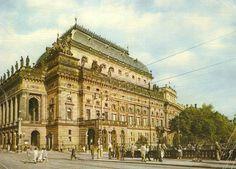 Národné divadlo Praha cca 1962 Places Of Interest, Bratislava, Prague, Louvre, Building, Travel, Postcards, Voyage, Buildings