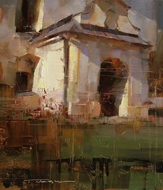 Chapel in the Noon by Tibor Nagy Oil ~ 12 x 10 Love the directional light!