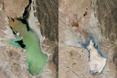 In the face of warming temperatures and the increased demand placed on supply by human needs, some of the world's largest lakes, rivers and seas are dwindling away.