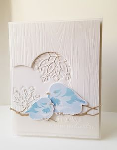Playing along with this week's lovely color combination at Color Throwdown and an adorable sketch by Kim Singdahlsen at Freshly Made Sketch. Bird Cards, Ink Stamps, Card Making Inspiration, Pretty Cards, Anniversary Cards, Blue Bird, Christmas Cards, Christmas 2014, Holiday Cards