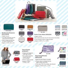 What's your style? Thirty-one has a. Variety of wallets to go with everything! www.mythirtyone.ca/maureyanderson