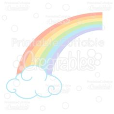 Spring Rainbow Free SVG Cutting File & Clipart- Free SVG scrapbook cut files for Silhouette, Cricut cutting machine. Free Rainbow cut file, cute clipart