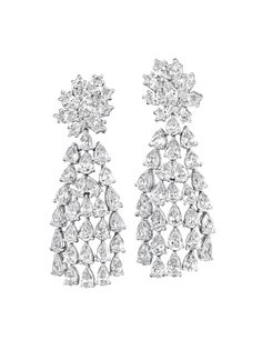 PHILLIPS : NY060212, , A Pair of Diamond Ear Pendants