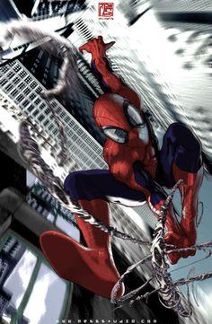 Best superhero ever! Comic Book Characters, Comic Book Heroes, Marvel Characters, Comic Character, Comic Books Art, Comic Art, All Spiderman, Amazing Spiderman, Batman
