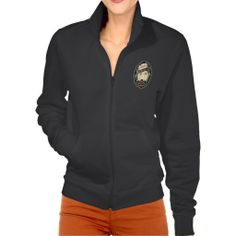 BadGirls gold silhouette young lady Bottom logo Jackets