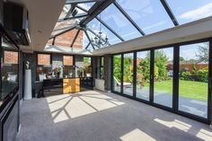A clever design means the orangery is light, airy and spacious