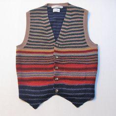 Sweater Vest Wool Stripe Kathy Hardwick Vintage by JackieSpicer