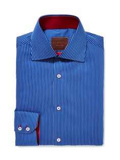 Pinstripe Cotton Dress Shirt by GEMELLI at Gilt.  www.GemelliShop.com