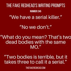 Sign Up For The Newsletter|Shop The eBooks Prompt Library The complete library of the original writing prompts written byThe Fake Redhead Prompt Library Inspired? Click on a prompt and leave a c…