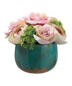 Look at this Pink Rose Arrangement on #zulily today!