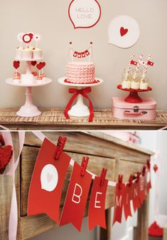 Pink & Red Hello Love Valentine Party || by Tania of Totful Memories, via Hostess with the Mostess