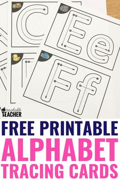 Make this super easy DIY alphabet tracing book with free printables and dollar store photo albums. These cards have uppercase, and lower case templates so the cards cover all of your needs. T/he worksheets are great for preschool and kindergarten classroo Preschool Learning Activities, Free Preschool, Kindergarten Writing, Preschool Lessons, Preschool Classroom, Literacy, Preschool Themes, Alphabet Tracing Worksheets, Tracing Letters