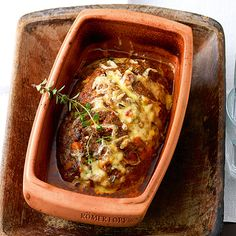 Meatloaf with herbs - Meatloaf with herbs from the Roman pot The Effective Pictures We Offer You About mushroom recipes - Healthy Eating Tips, Healthy Nutrition, Clean Eating, Healthy Recipes, Slow Cooking, Slow Food, Bavarian Recipes, Swiss Recipes, Meatloaf Recipes