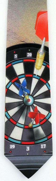 New Darts Mens Necktie Dartboard Dart Flight Pub Game Sports Marlin Neck Tie #RalphMarlin #NeckTie