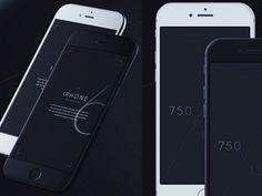 iPhone 6 mockups – 3/4 + front views
