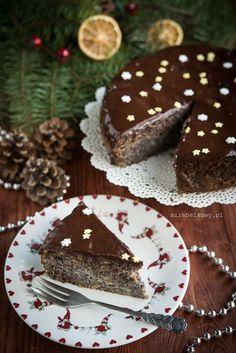 Mirabelkowy blog: Makowiec czy szarlotka? Ciasto japońskie :) Polish Recipes, Polish Food, Gingerbread Cookies, Food And Drink, Chocolate, Poppy, Christmas, Blog, Winter