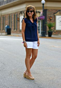 22 Days of Summer Fashion-Tie Neck Blouse